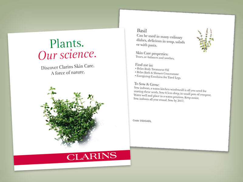 Clarins Promotional Packets