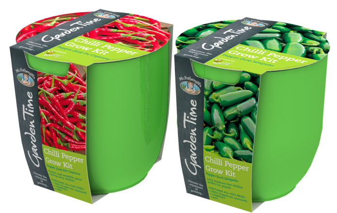 Garden Time Chilli Pepper Grow Kits from Mr Fothergill's Garden Time range