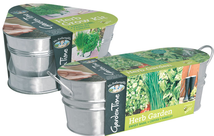 Herb Grow Kits from Mr Fothergill's Garden Time range