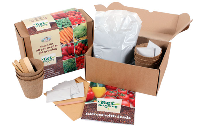 Get Growing Salad Kit Set from Mr Fothergill's Promotional Seeds