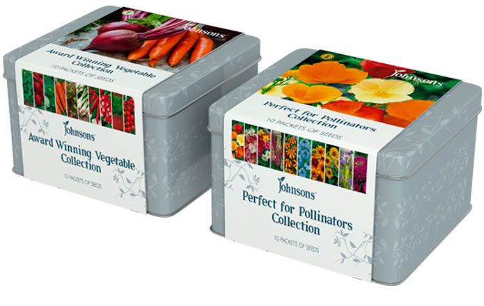 Johnsons Vegetable and Flower Collection Tins